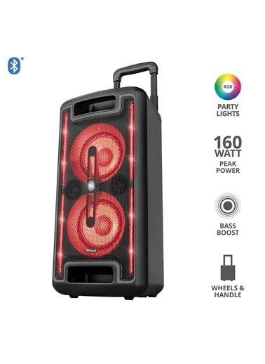 Trust Klubb MX Go Siyah 160W RGB Ledli Bluetooth Party Hoparlörü Siyah